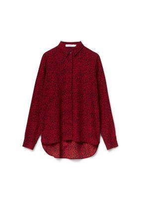 tijgerprint blouse