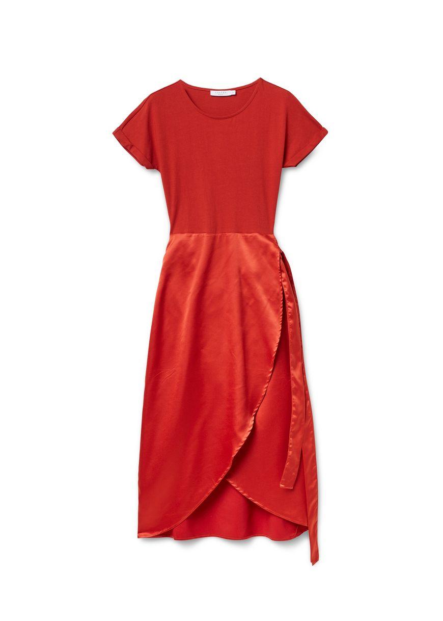 Rode Wollen Jurk.Jurken Voor Dames Costes Fashion