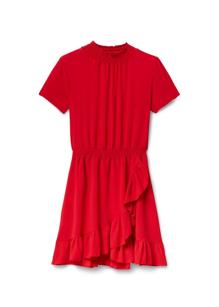 f37bc92f27a77e Solid Smock SS Dress
