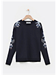 Floral Embro Sweat PACKSHOTFRONT