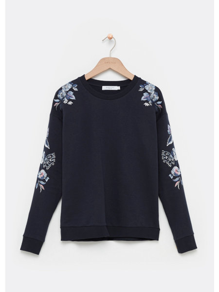 Floral Embro Sweat