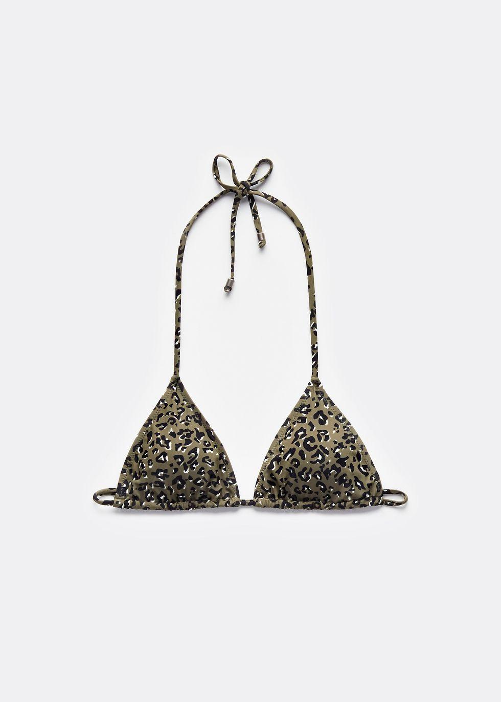 fabriek specifiek aanbod schoeisel Leopard Triangle Bikini Top | The Sting