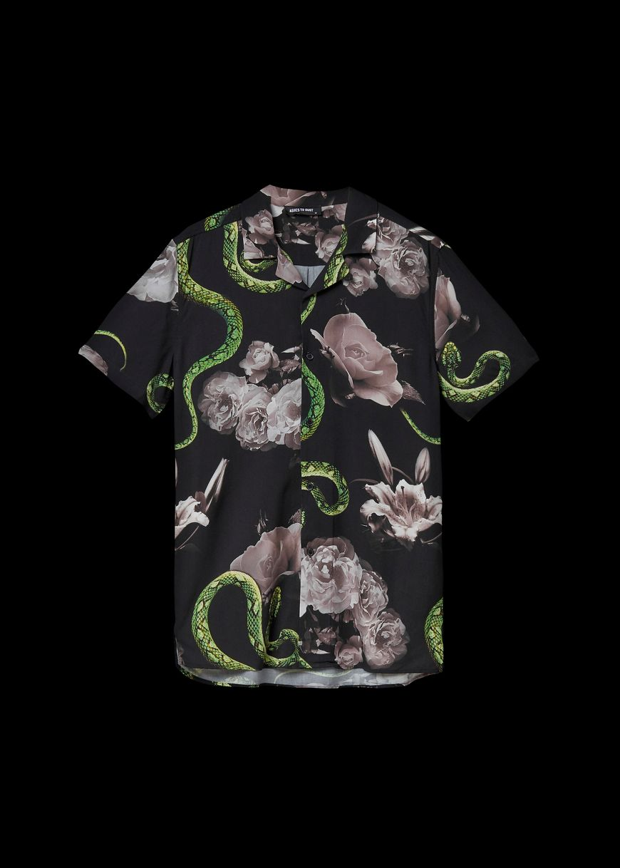 18dc4fb0923162 Ashes To Dust. Snake Resort Shirt