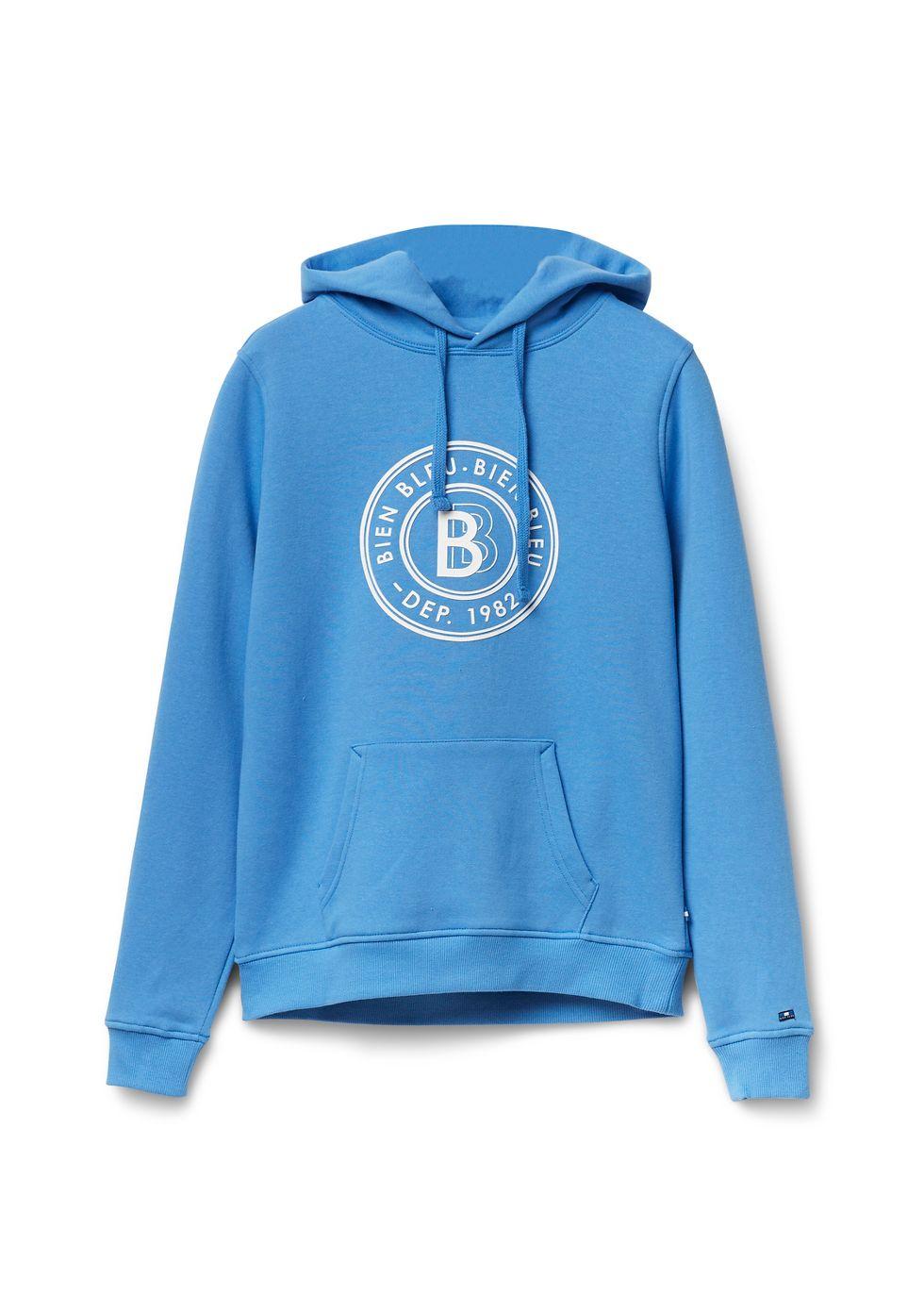 Hooded Sweater middenblauw